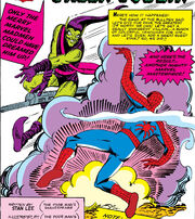Peter Parker (Earth-616) battles the Green Goblin for the first time from Amazing Spider-Man Vol 1 14