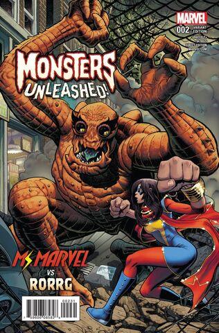 File:Monsters Unleashed Vol 2 2 Classic Monster vs. Marvel Hero Variant.jpg