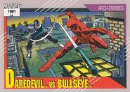 Matthew Murdock vs. Bullseye (Lester) (Earth-616) from Marvel Universe Cards Series II 0001