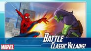 Peter Parker (Earth-TRN562) and Norman Osborn (Earth-TRN562) from Marvel Avengers Academy 001