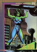 Jennifer Walters (Earth-616) from Marvel Universe Trading Cards 1993 Set 0001