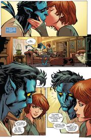 Kurt Wagner (Earth-616) and Rachel Summers (Earth-811) from X-Men Gold Vol 2 7 001