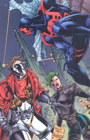 File:Miguel O'Hara (Earth-928), Tooth (Earth-93060) and Nail (Earth-93060) from Battlezones Dream Team 2 Vol 1 1 0001.jpg