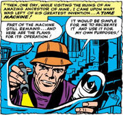 Nathaniel Richards (Rama-Tut) discovers ancient plans in Fantastic Four vol 1 19