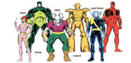Zodiac (Team) from Official Handbook of the Marvel Universe Vol 2 15 0001