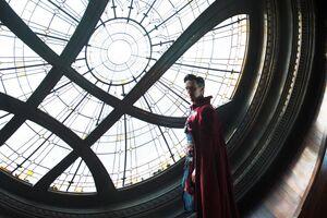 Stephen Strange (Earth-199999) in the Sanctum Sanctorum from Doctor Strange (film) 001