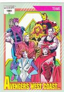 Avengers West Coast (Earth-616) from Marvel Universe Cards Series II 0001
