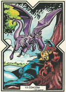 Katherine Pryde and Lockheed (Earth-616) from Excalibur Trading Cards 0001