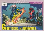 Daniel Ketch vs. Deathwatch (Earth-616) from Marvel Universe Cards Series II 0001