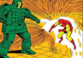 Anthony Stark (Earth-616) Iron Man vs Titanium Man from Tales of Suspense Vol 1 69