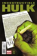Indestructible Hulk Vol 1 11 Del Mundo Variant