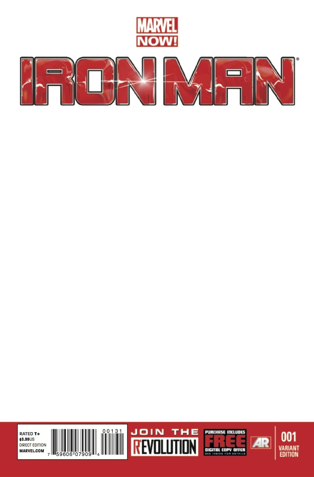 Marvel Comic Book Cover Template : Image iron man vol blank variant g marvel