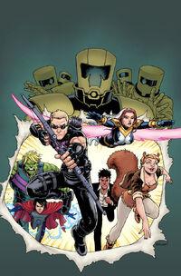 New Avengers Vol 4 3 Burnham Variant Textless