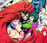 Medusalith Amaquelin (Earth-616) and Ahura reunited from Fantastic Four Unlimited Vol 1 2
