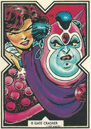 Katherine Pryde (Earth-616) and Gatecrasher (Earth-TRN295) from Excalibur Trading Cards 0002