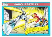Norrin Radd vs. Thanos (Earth-616) from Marvel Universe Cards Series I 0001