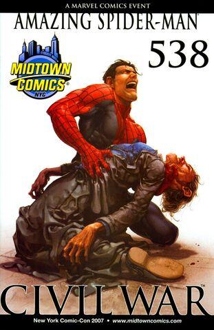 File:Amazing Spider-Man Vol 1 538 Midtown Comic Exclusive NYC Comic Con 2007 Variant.jpg