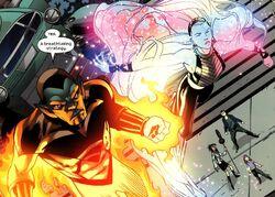 Xavin (Earth-616) and Karolina Dean (Earth-616) from Runaways Vol 2 20 001
