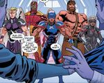 Avengers (Earth-23291) from Secret Wars 2099 Vol 1 2 0001