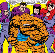Frightful Four (Earth-616) with the Thing from Fantastic Four Vol 1 42