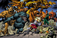 Taneleer Tivan, Harvey Elder, Tragg,Grottu,Rommbu,Grogg,Fin Fang Foom, Groot (Original) and Moloids (Earth-616) from Marvel Monsters Monsters on the Prowl Vol 1 1 0001
