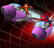 Mary Jane Watson (Earth-TRN562) and Peter Porker (Earth-8311) from Marvel Avengers Academy 001