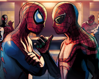 Peter Parker (Earth-TRN461) and Otto Octavius (Earth-TRN505) 001.png