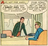 Stan Lee (Earth-616) and Al Hartley (Earth-616) from Patsy and Hedy Vol 1 78