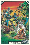 X-Men, Karl Lykos and Ka-Zar (Earth-616) from Arthur Adams Trading Card Set 0001