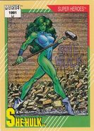 Jennifer Walters (Earth-616) from Marvel Universe Cards Series II 0001