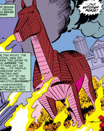 Wooden horse from Thor Annual 8