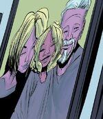 Gwendolyne Stacy (Spider-Woman) (Earth-8), Charlotte Morales-Stacy (Earth-8) and George Stacy (Earth-8) from Spider-Gwen Vol 2 18 001