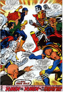 X-Sentinels (Earth-616) vs X-Men (Earth-616) from X-Men Vol 1 99 0001