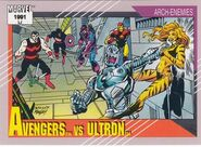 Avengers vs. Ultron (Earth-616) from Marvel Universe Cards Series II 0001