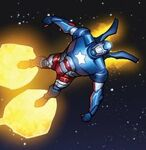 James Rhodes (Earth-616) with Iron Patriot Armor from Iron Man Fatal Frontier Infinite Comic Vol 1 1 002