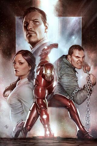 File:Iron Man Extremis TPB Vol 1 1 Granov Variant Textless.jpg