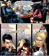 Maria Hill (Earth-616), Sharon Carter (Earth-616) and Victoria Hand (Earth-616) from Age of Heroes Vol 1 3 0001