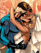 Susan Storm (Earth-616) and Reed Richards (Earth-616) from Fantastic Four The Wedding Special Vol 1 1 0001