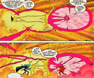 Candra (Earth-616) vs. Ororo Munroe (Earth-616) from X-Men Unlimited Vol 1 7 001