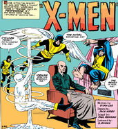 Charles Xavier (Earth-616) summons the X-Men for their first mission from X-Men Vol 1 1