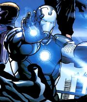 Anthony Stark (Earth-1610) with Iron Man Armor (New Ultimates) (Earth-1610) 001