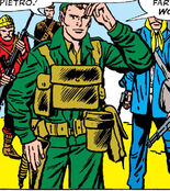 Reed Richards (Earth-616) in the Army (Sgt Fury Vol 1 3)