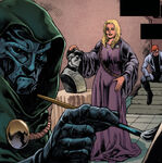 Layla Miller (Earth-616) and Victor von Doom (Earth-616) from X-Factor Vol 1 202 0001