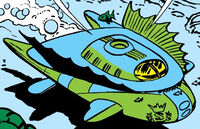Atlantean Imperial Jet Craft from Fantastic Four Annua Vol 1 1