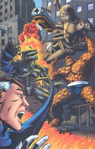 File:Fantastic Four (Earth-616) and Nanotech Mechanized Entity (Earth-93060) from Battlezones Dream Team 2 Vol 1 1 0001.jpg