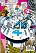 Mister Fantastic leads the new team into battle from Fantastic Four Vol 1 81