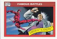 Matthew Murdock vs. Wilson Fisk (Earth-616) from Marvel Universe Cards Series I 0001