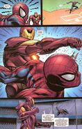Anthony Stark (Earth-616) vs. Peter Parker (Earth-616) from Iron Man Vol 4 14 001