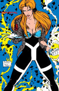 Crystalia Amaquelin (Earth-616) Avengers uniform from Avengers Strikefile Vol 1 1