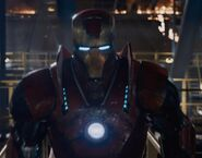 Anthony Stark (Earth-199999) with Iron Man Armor MK XVI (Earth-199999) from Iron Man 3 (film) 001